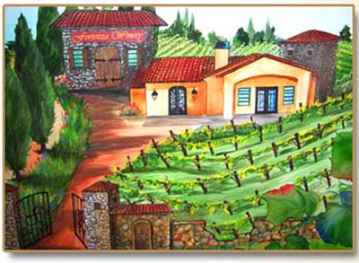 Painting of Fortezza Winery
